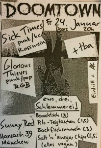 Flyer Doomtown Concerts am 24.01.2014